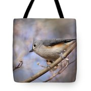 Tufted Titmouse - On The Slope Tote Bag