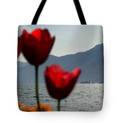 Tulip And Lake Tote Bag