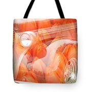Tulip Car Abstract Tote Bag