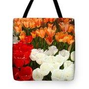 Tulip Flowers Festival Art Prints Floral Baslee Tote Bag