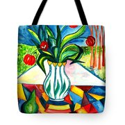 Tulips And A Pear Tote Bag