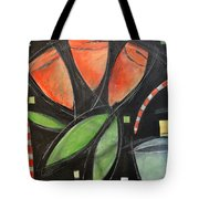 Tulips And Water Glass Tote Bag