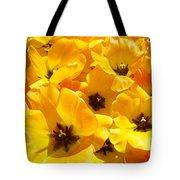 Tulips Art Prints Yellow Tulip Flowers Floral Tote Bag