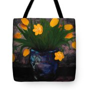 Tulips In Blue Tote Bag