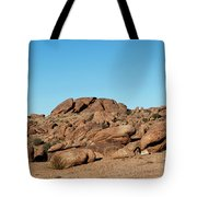 Tumbling Rocks Of Gold Butte Tote Bag