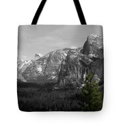 Tunnel View Selective Color Tote Bag