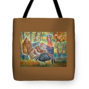 Turkey In Fall Tote Bag