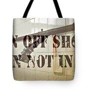Turn Off Shower ... Tote Bag