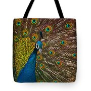 Turquoise And Gold Wonder Tote Bag