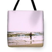 Turquoise Bathing Suit Tote Bag