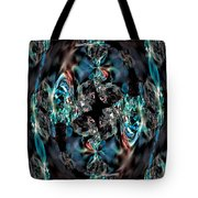 Turquoise Crystals Tote Bag