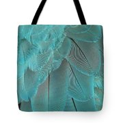 Turquoise Blue Feathers Tote Bag