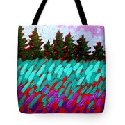 Turquoise Field Tote Bag