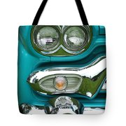 Turquoise Headlight Tote Bag