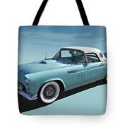 Turquoise T-bird Tote Bag