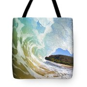 Turquoise Wave Breaking On Makena Shore Tote Bag