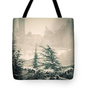 Turret In Snow Tote Bag