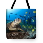 Turtle And Sealife Tote Bag