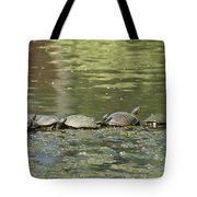 Turtle Traffic Jam Tote Bag