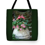 Tuscan Earthenware Pot And Flowers Tote Bag