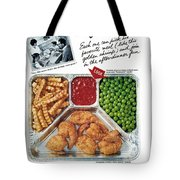 Tv Dinner Ad, 1963 Tote Bag