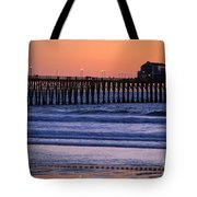 Twilight At Imperial Pier Tote Bag