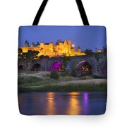 Twilight Over Carcassonne Tote Bag