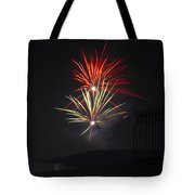 Twin Fireworks Tote Bag