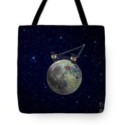 Twin Grail Spacecraft Map The Moons Tote Bag
