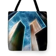 Twin Towers Tote Bag by Paul Ward
