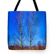 Twin Trees At South Platte Park Tote Bag