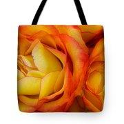 Twin Yellow Roses Tote Bag