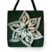 Twisted Paper Christmas Star Tote Bag