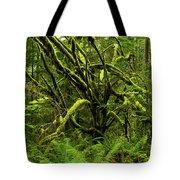 Twisted Rain Forest Tote Bag