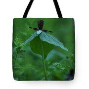 Twisted Trillium Tote Bag