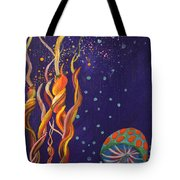 Twisting In The Night Tote Bag