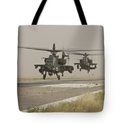Two Ah-64 Apache Helicopters Prepare Tote Bag