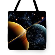 Two Artificial Moons Travelling Tote Bag