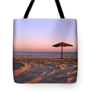 Two Beach Umbrellas Tote Bag