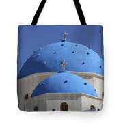 Two Blue Church Tops Tote Bag