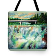 Two Bridges And A Falls 2          Tote Bag