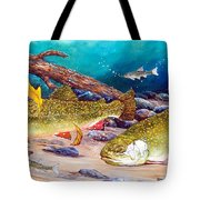 Two Brook Trout Tote Bag