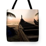 Two Canoes On The Beach At The Arabian Tote Bag