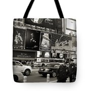 Two Cops On Broadway Tote Bag