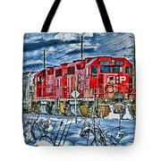 Two Cp Rail Engines Hdr Tote Bag