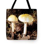 Two Death Cap Mushrooms Tote Bag