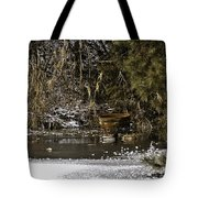 Two Ducks And A Tub Tote Bag