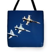 Two F-5 Tiger IIs And An A-4e Skyhawk Tote Bag