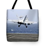 Two Fa-18c Hornet Strike Fighters Tote Bag