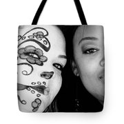 Two Faces In Black And White Tote Bag